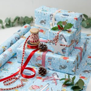 Christmas Cats Gift Wrap by Mary Kilvert