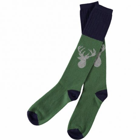 Lambswool Stag Knee Socks by Catherine Tough