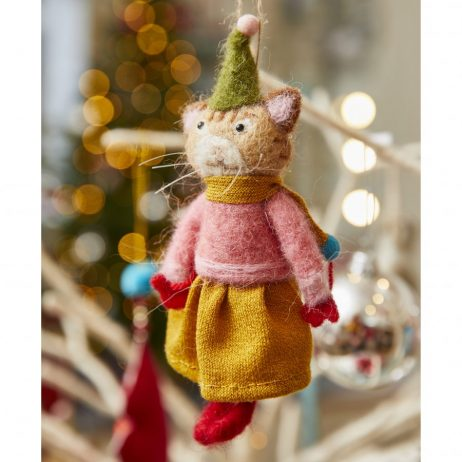 Felt Tabby Cat Decoration