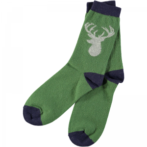 Lambswool Stag Ankle Socks by Catherine Tough