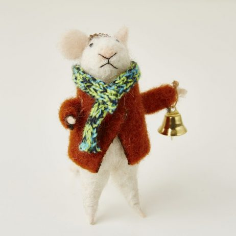 Felt Mouse with Bell Christmas Decoration