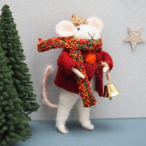 Mouse with Bell Decoration