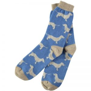 Lambswool Dachshund Ankle Socks by Catherine Tough