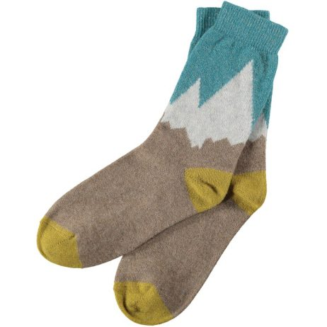 Lambswool Snowy Mountains Ankle Socks by Catherine Tough