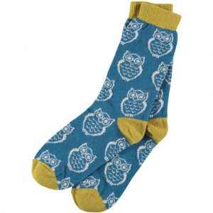 Lambswool Owl Ankle Socks by Catherine Tough