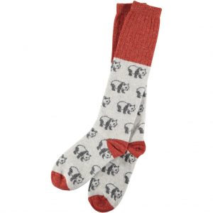 Lambswool Panda Socks by Catherine Tough