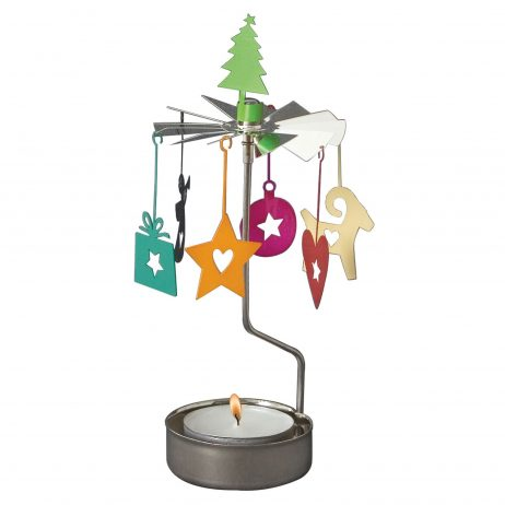 Christmas Colour Rotary Tealight Candle Holder