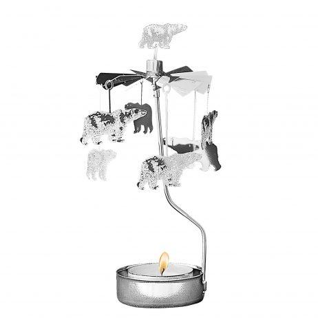Polar Bear Rotary Tealight Candle Holder