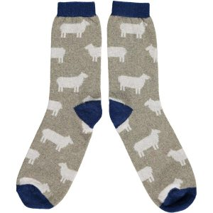 Lambswool Sage Sheep Ankle Socks by Catherine Tough