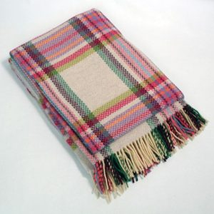 Pink Merino Cashmere Blend Woven Throw