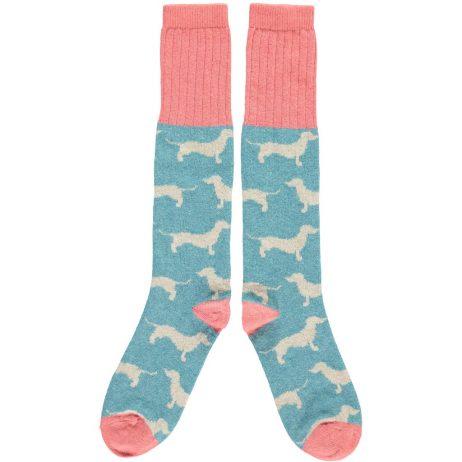 Lambswool Dachshund Knee Socks by Catherine Tough