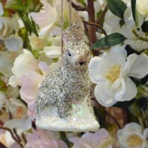 Arctic Hare Decorations in Silver