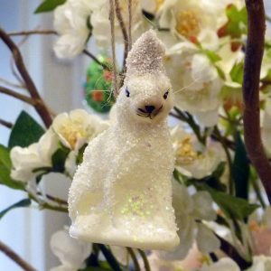 Arctic Hare Decorations in White