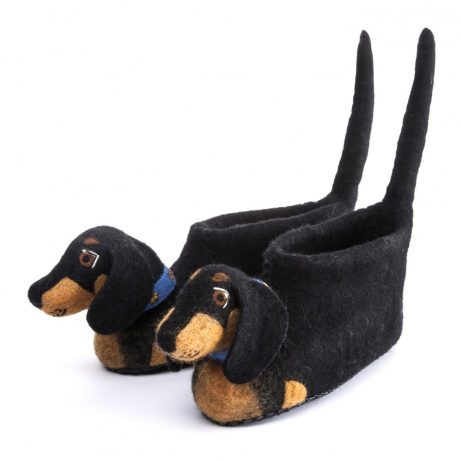 dachshund felt children's slippers