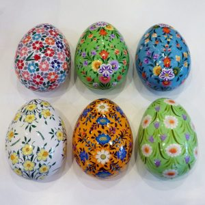 Large Floral Hand Painted Egg Boxes