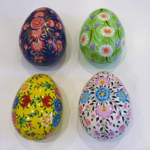 Medium Floral Hand Painted Egg Boxes