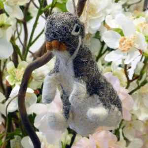 Felted Rabbit in Brown
