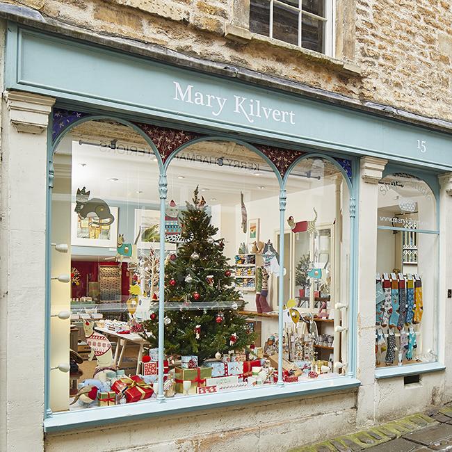 Mary Kilvert Christmas Shop Exterior
