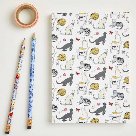 Large Cat Pattern Notebook