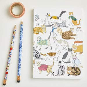 Large Cradle of Crafty Cats Notebook