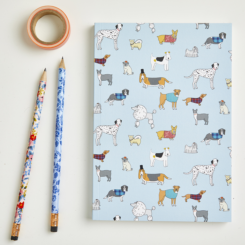 Large Dog Pattern Notebook
