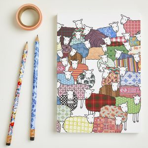 colourful sheep notebook