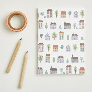 Small Town Houses Pattern Notebook