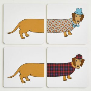 Larry the Long Dog Coasters