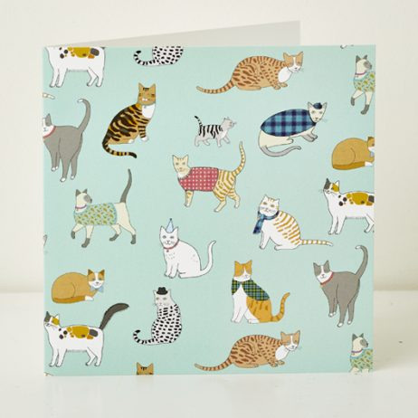 Crafty Cats Pattern Greeting Card