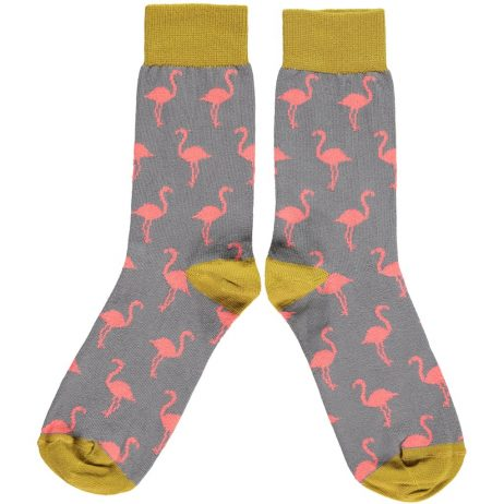 Cotton Pink Flamingo Ankle Socks by Catherine Tough