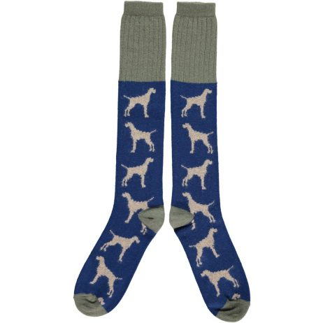 Lambswool Hound Dogs Knee Socks by Catherine Tough