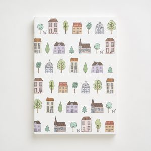 Large Town Houses Pattern Notebook