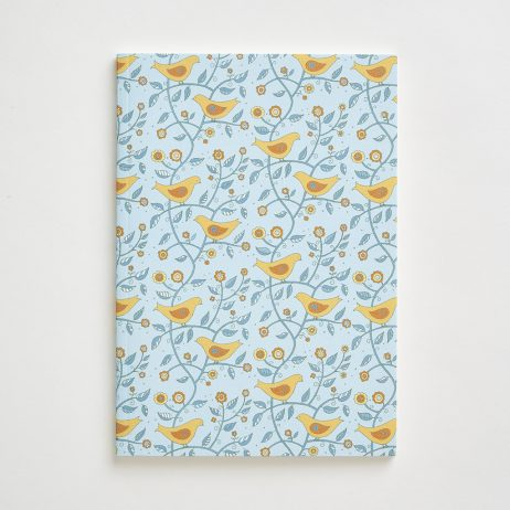 Small Folk Bird Pattern Notebook