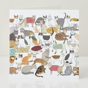 Cradle of Crafty Cats Greeting Card