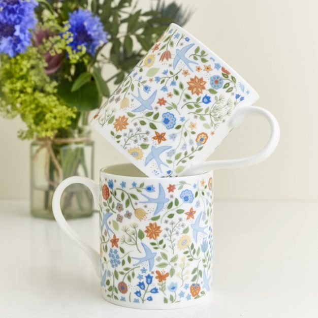 Summer Swallows Mugs