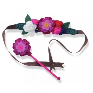 English Garden Fairy Crown and Flower Wand