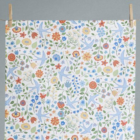 Summer Swallows Tea Towel