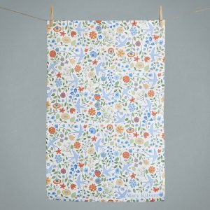Summer Swallows Tea Towel