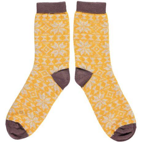 Fair Isle Ankle Socks by Catherine Tough