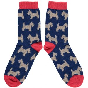Scottie Dog Ankle Socks