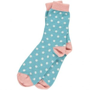 Turquoise Dot Ankle Socks by Catherine Tough