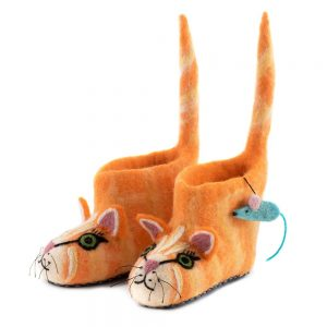 Cat Felt Children's Slippers