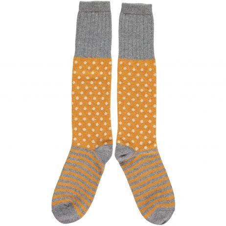 Ginger Dot & Stripe Knee Socks by Catherine Tough