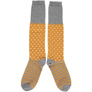 Ginger Dot & Stripe Knee Socks by Catherine Tough