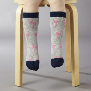 flamingo children's ankle socks by Catherine Tough