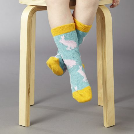 rabbit children's ankle socks by Catherine Tough