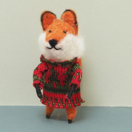 Rusty Felt Fox Decoration