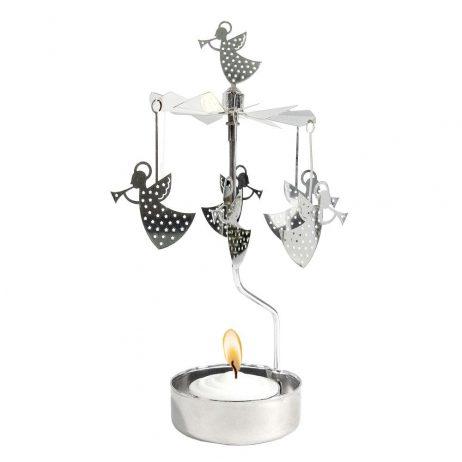 Trumpet Angel Rotary Tealight Candleholder