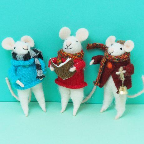 Felt Mouse Decorations