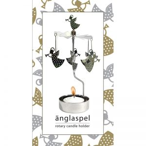 Trumpet Angel Rotary Tealight Candleholder